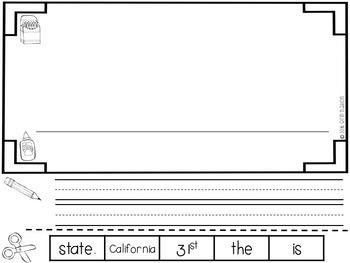 """All About California"" a cut-a-sentence book"