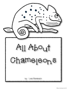 All About Chameleons a non fiction book for beginning readers