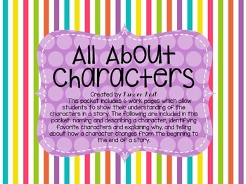 Characters {Reading Response}