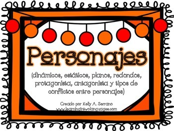 All About Characters Posters in Spanish