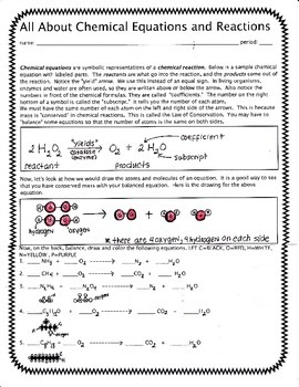 Equations and Reactions in Chemistry