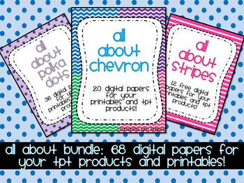 All About Chevron, Dots, & Stripes {68 Papers for Personal &  Commercial Use}