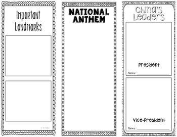 China - Research Project - Interactive Notebook - Government - Mini Book
