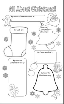 All About Christmas: A Fill-in Poster
