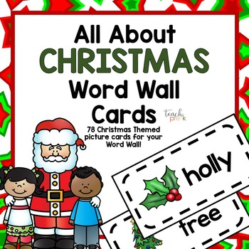 All About Christmas Word Wall Cards