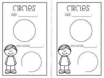 2D Shapes Book- Circles