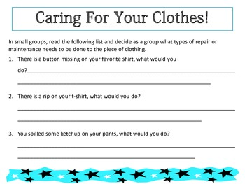 All About Clothing! A Social Skills Unit