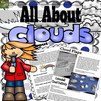 All About Clouds : Information Booklet, Mini posters, Worksheets, and More!