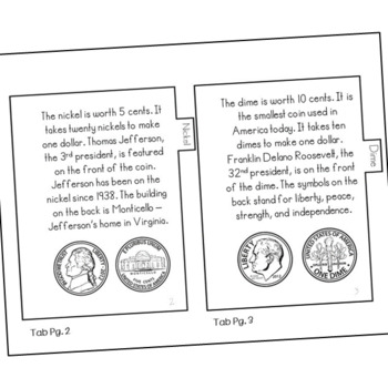 All About Coins Mini Book, Interactive Notebook Flip Book, Money Center Activity