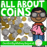 All About Coins! {coin identification, value, and counting sets of change}
