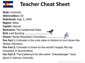 All About Colorado | US States | Activities & Worksheets