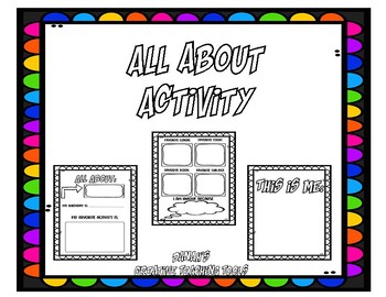 All About Coloring and Drawing Activity