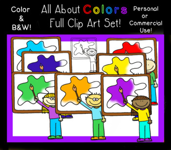 All About Colors - Clip Art - Personal or Commercial Use