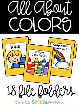 All About Colors File Folders