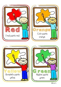 All About Colors - Flashcards! Color and B&W
