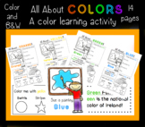 All About Colors - Activity Pages - Color and B&W