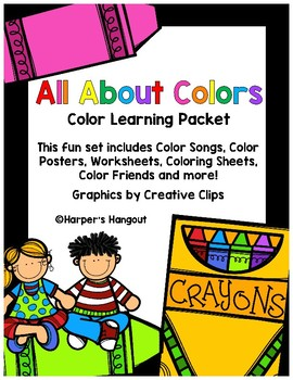 All About Colors Learning Packet