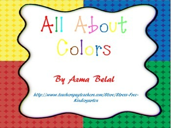 All About Colors. Literacy Activities