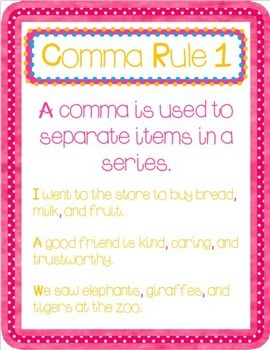 All About Commas!