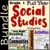 All About Communities: Social Studies Grade 1: Full Year: