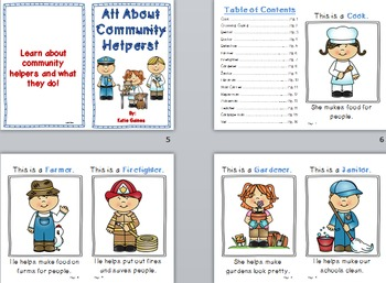 All About Community Helpers BOOK!