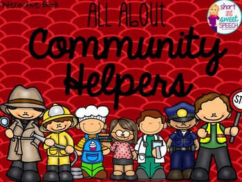 All About Community Helpers: Interactive Book and Homework Companions