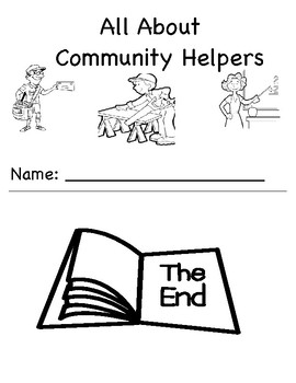 All About Community Helpers Printable Comprehension and Vocabulary Activity