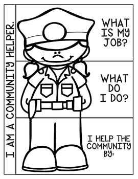 Community Helpers Social Studies Interactive Notebook