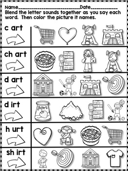 All About Consonant -rt ending Words - No Prep! Real Pictures!