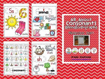 All About Consonants, Blends & Digraphs Flip/Anchor Chart