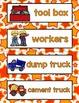 All About Construction Literacy Centers for Preschool, PreK, K, & Homeschool