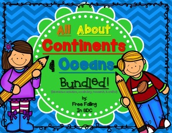 All About Continents & Oceans (crafts, research, vocab, & more!)