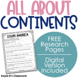 All About Continents: Research Pages