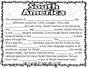 All About Continents! (interactive research, vocab, and crafts)