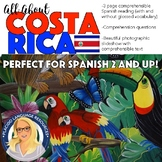 All About Costa Rica Country Study Reading and Slideshow + Questions