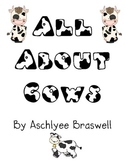 All About Cows Book and Writing Paper