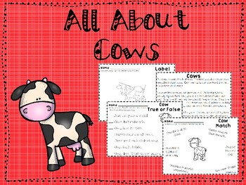 All About Cows Unit