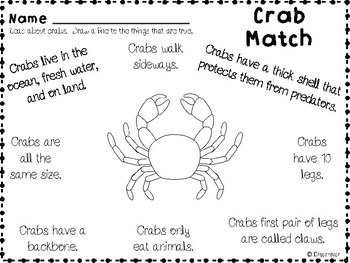 All About Crabs Unit
