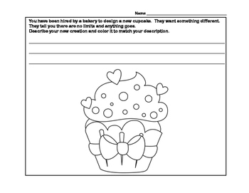 All About Cupcakes- Scavenger Hunt- Read and Write The Room- Grades 3-6