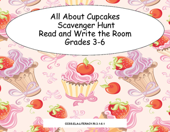 All About Cupcakes- Scavenger Hunt- Read and Write The Roo