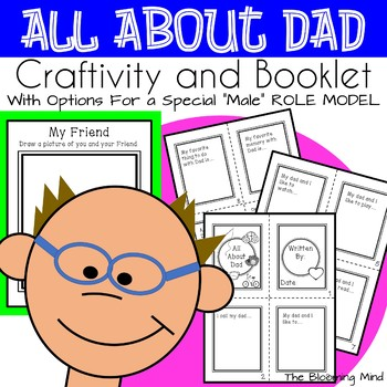 Father's Day Activity All About Dad Memory Booklet Craft/Activity/Gift