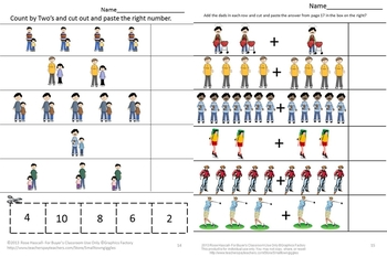 Math and Literacy Cut and Paste Activities,Father's Day, Special Education