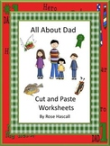 Father's Day Kindergarten Special Education Autism Cut and Paste Fine Motor