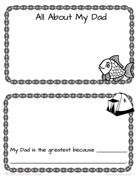 All About Dad Mini Book Templates