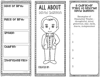 All About David Shannon - Biography Research Project - Interactive Notebook