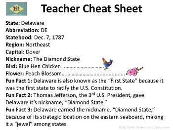 All About Delaware | US States | Activities & Worksheets