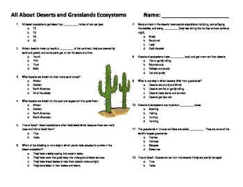All About Deserts and Grasslands Ecosystems