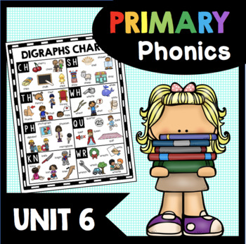 All About Digraphs - Phonics Unit - Digraph Worksheets - Literacy Centers