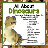 All About Dinosaurs 5-Day Lesson Plan for Preschool, PreK, K & Homeschool