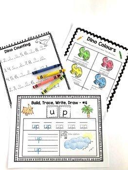 Kindergarten Dinosaur Unit, Math, Literacy